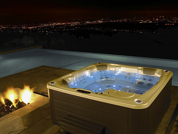 Limelight hot tubs flair 5 person hot tub hot tubs spas aqualux spas - Jacuzzi spa exterieur ...